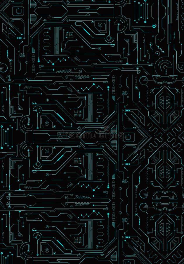 Abstrakt modernt teknologiskt nätverk som en unik bakgrund vektor illustrationer