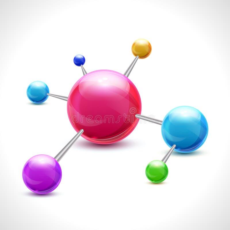 Abstrakt molekyl 3d royaltyfri illustrationer