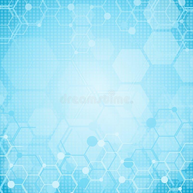 Abstrakt molekylläkarundersökningbakgrund royaltyfria foton