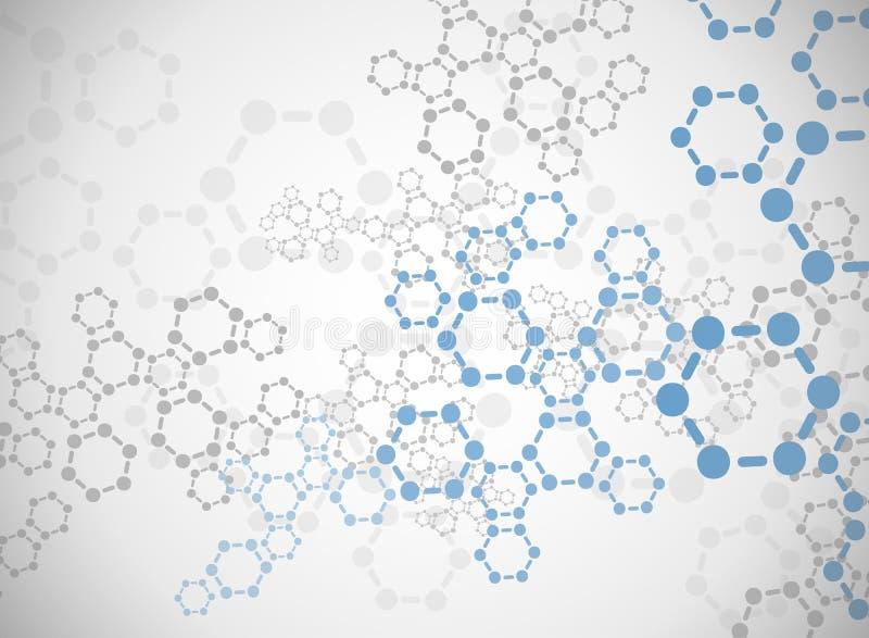 Abstrakt molekylläkarundersökningbakgrund royaltyfri foto