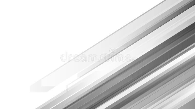 Abstrakt monokrom geometrisk bakgrund Modernt formbegrepp ocks? vektor f?r coreldrawillustration royaltyfri illustrationer