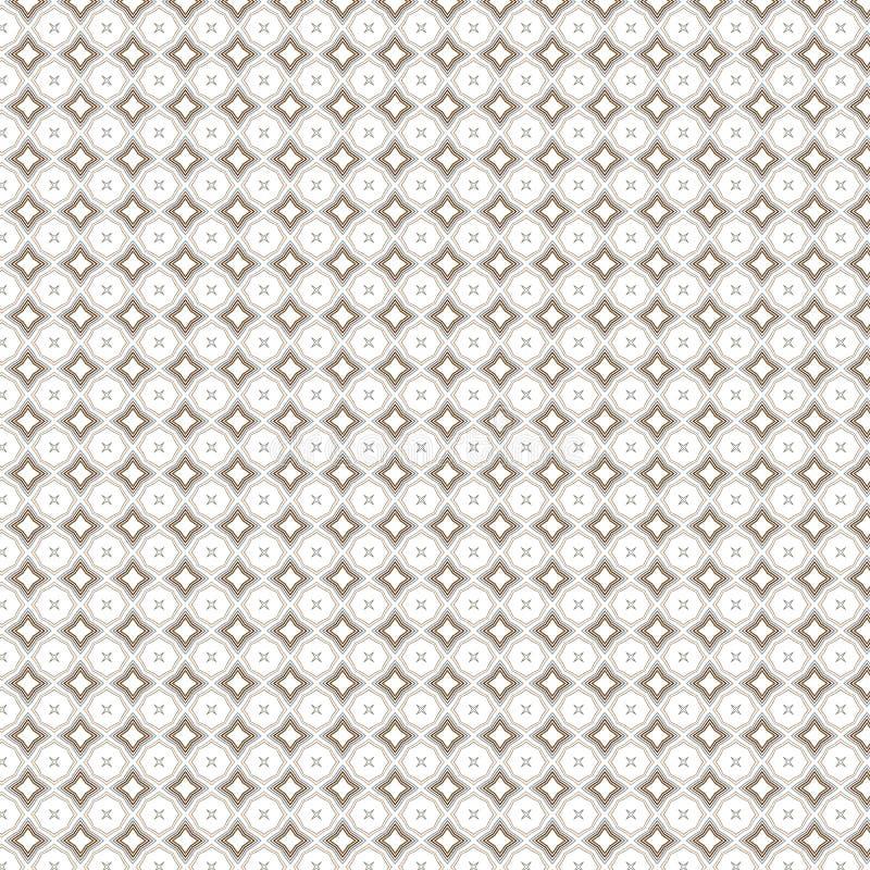 Abstrakt monokrom linje bakgrund för lyx för rombmodelltextur stock illustrationer