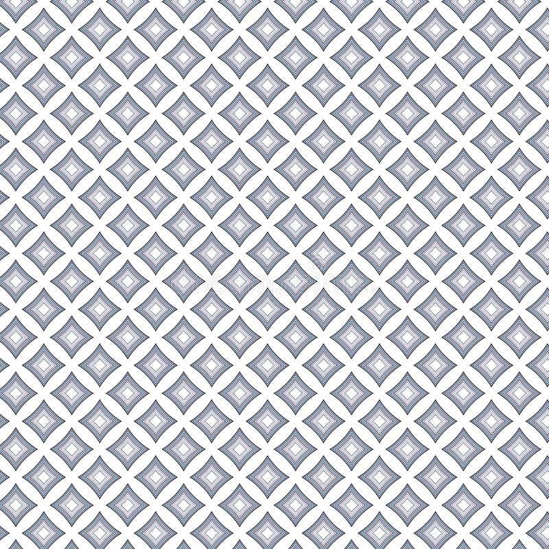 Abstrakt monokrom linje bakgrund för lyx för rombmodelltextur vektor illustrationer