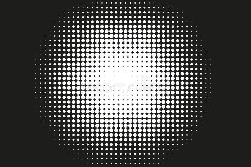 Abstrakt monokrom rastrerad modell Komisk bakgrund stock illustrationer