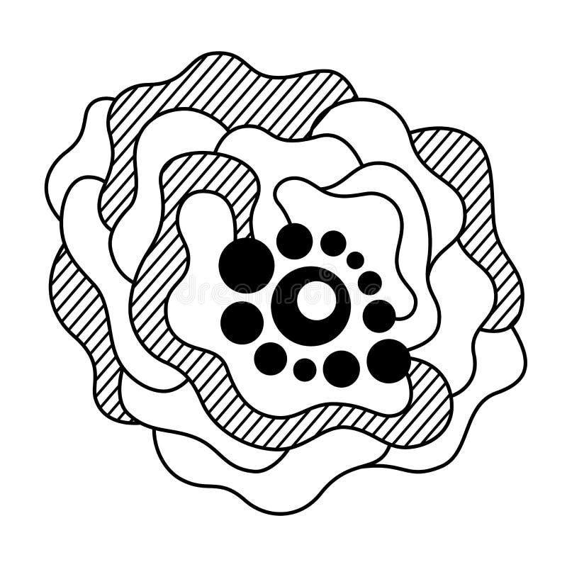 Abstrakt monokrom sammansättning som isoleras på vit bakgrund vektor illustrationer