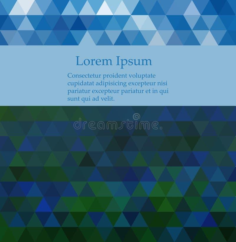 Abstrakt mosaikbakgrund för blå vektor Geometrisk illustration i origamistil med lutning royaltyfri illustrationer