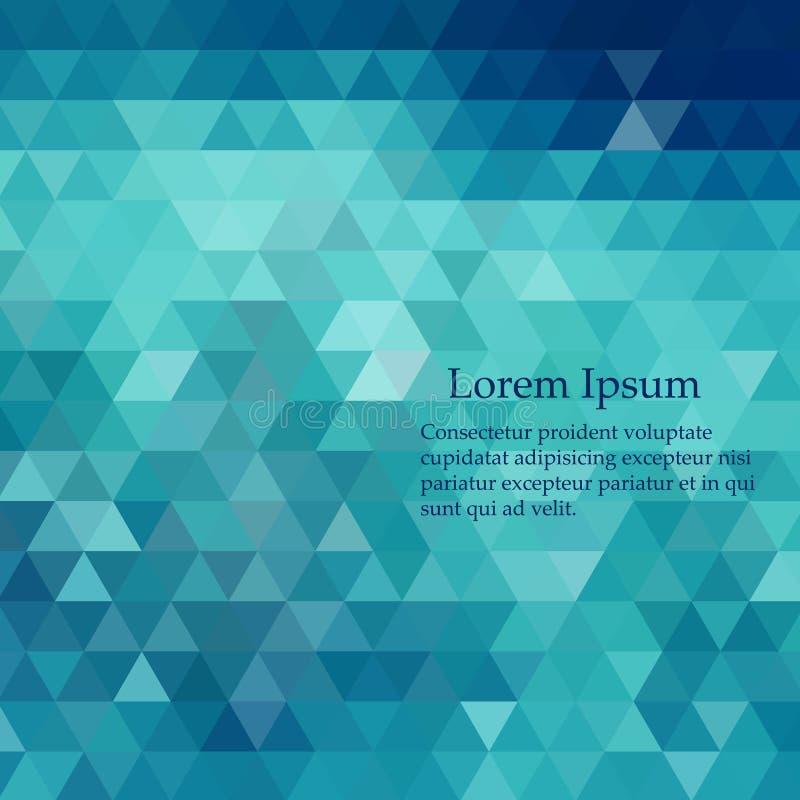 Abstrakt mosaikbakgrund för blå vektor Geometrisk illustration i origamistil med lutning stock illustrationer