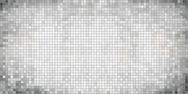 Abstrakt mosaikbakgrund för vit vektor illustrationer