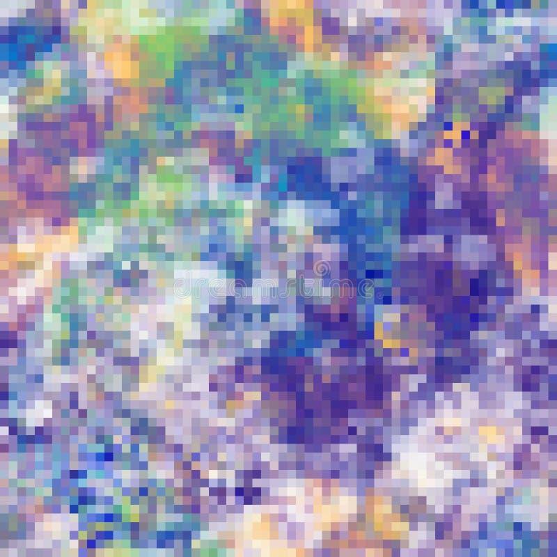 Abstrakt mosaikbakgrund med färgrika PIXEL vektor illustrationer