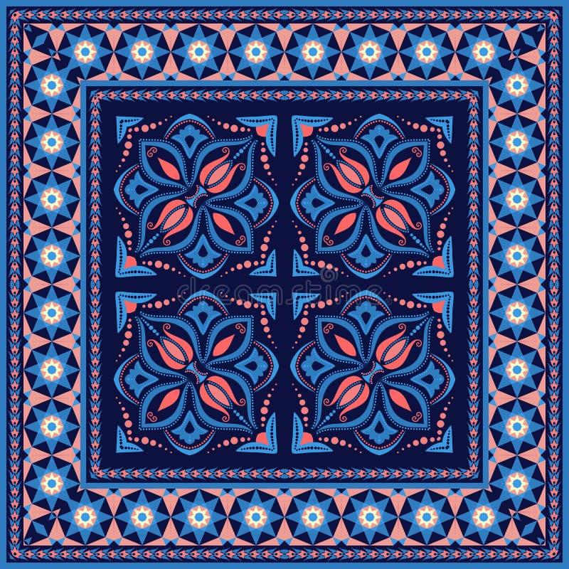 abstrakt mosaikmodell dekorativ ram royaltyfri illustrationer