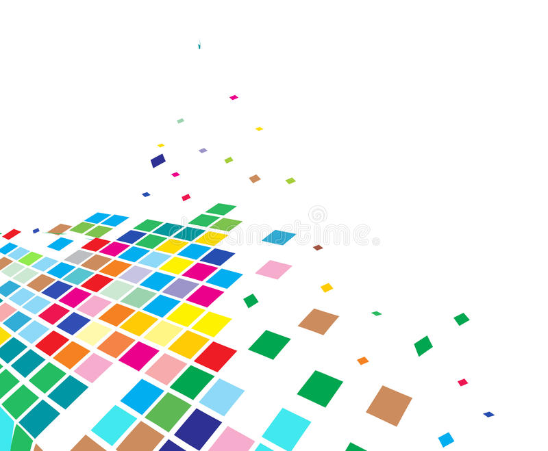 abstrakt mosaikvektor vektor illustrationer