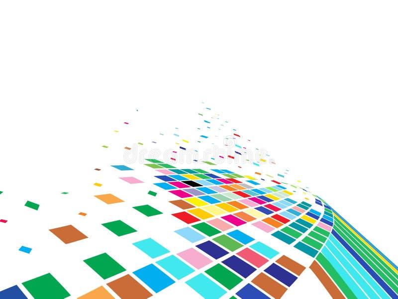 abstrakt mosaikvektor stock illustrationer