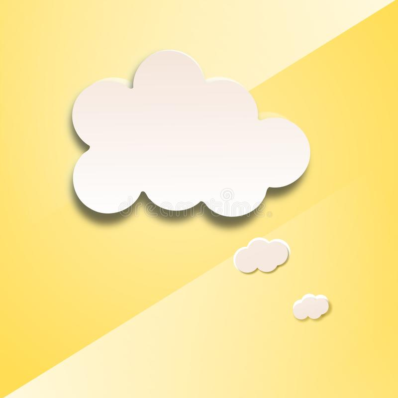 Abstrakt mowy papierowy bąbel w postaci chmury ilustracja wektor