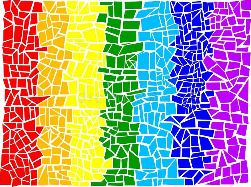 abstrakt mozaic vektor illustrationer