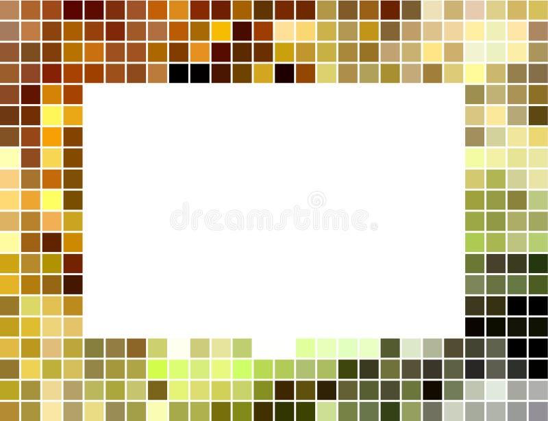 abstrakt mozaiki ramowy kwadrat taflujący ilustracji