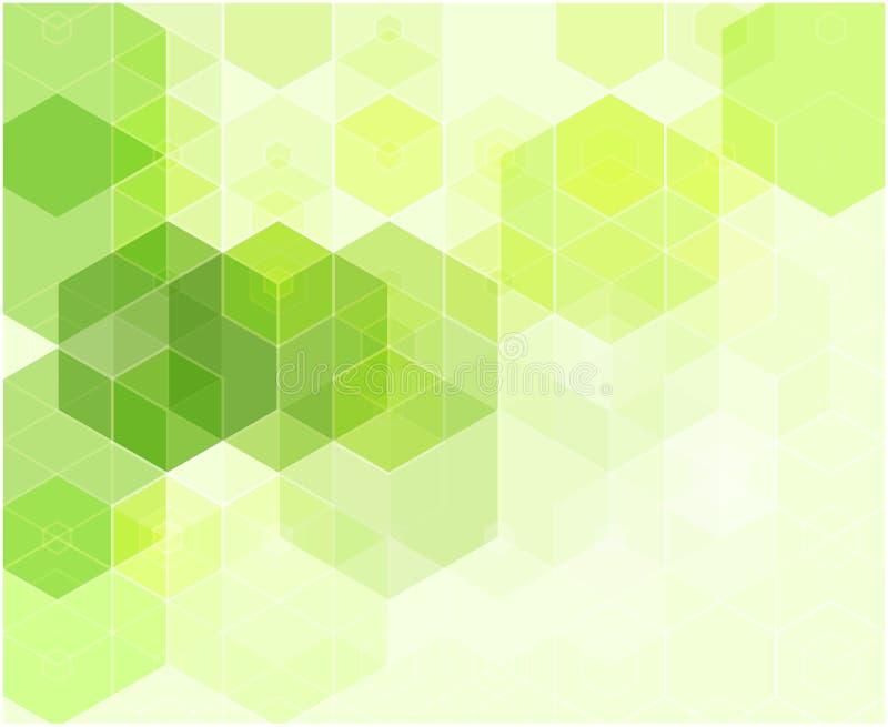 Abstrakt mozaiki zielony tło Trójboka geometryczny tło cztery elementy projektu tła snowfiake białego ilustracja wektor