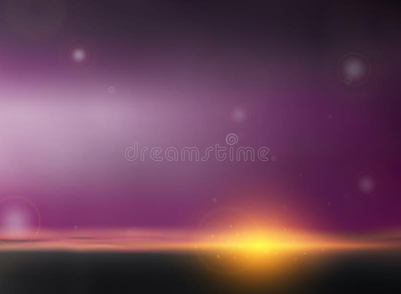 Abstrakt mroczny tło w zmierzchu wieczór czas royalty ilustracja