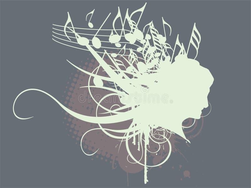 abstrakt musiktema vektor illustrationer