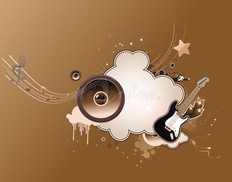 Abstrakt muzyczna rama royalty ilustracja