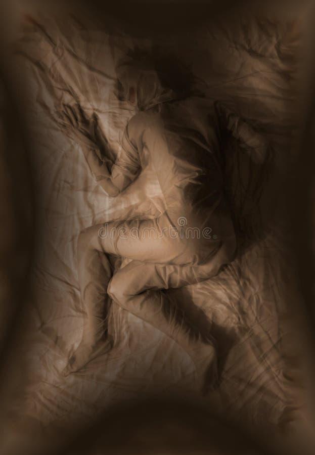 Download Abstrakt Nakenstudie För Huvuddeltorkdukekvinnlig Fotografering för Bildbyråer - Bild av dött, grav: 500803