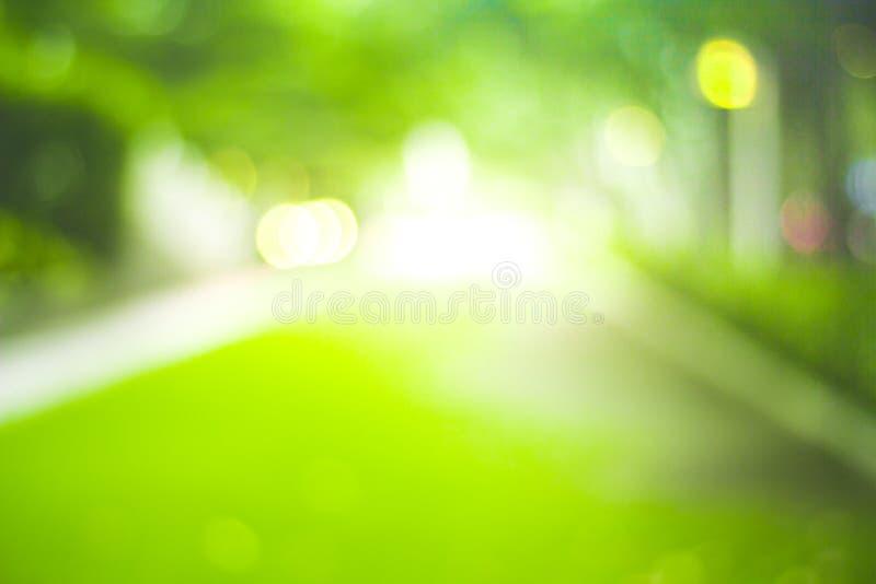 Abstrakt natury plamy zielony tło i światło słoneczne fotografia stock