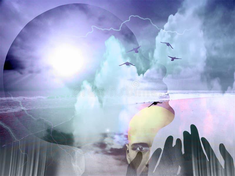 abstrakt negro spiritual vektor illustrationer
