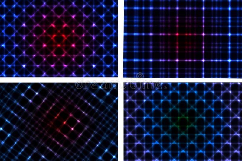 Download Abstrakt Neonbakgrundssamling Vektor Illustrationer - Illustration av garnering, ögonkast: 37344296