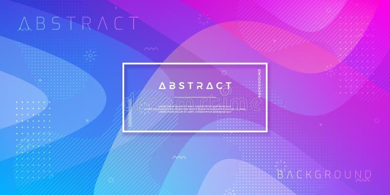 Abstrakt, nowożytny, dynamiczny, modny gradientowy tło, Błękitny purpurowy wektorowy tło ilustracji