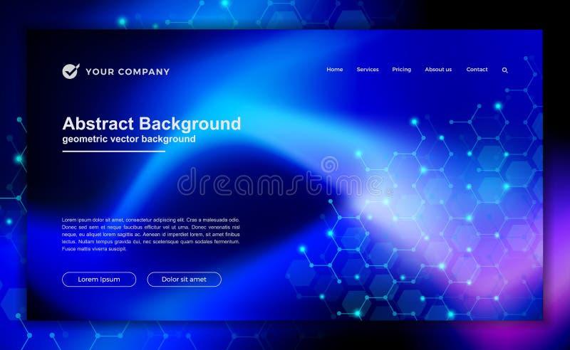 Abstrakt, nowożytny dynamiczny tło dla twój desantowego strona projekta Technologia, nauki tło dla dla strona internetowa projekt ilustracja wektor