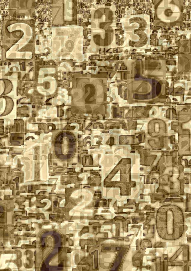 abstrakt nummer royaltyfri illustrationer