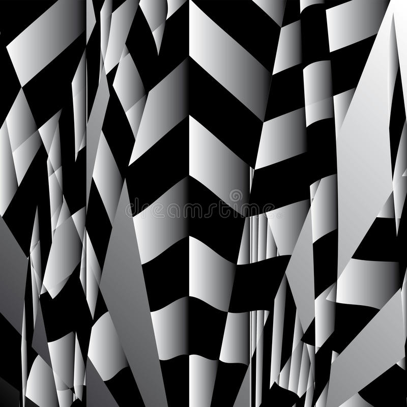 Abstrakt obdzierający geometryczny tło kwadrat ilustracji