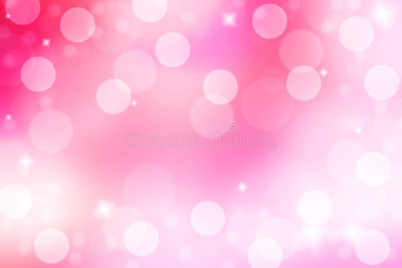 Abstrakt och suddighetsrosa färgbakgrund Rosa bakgrund med bokeh arkivbilder