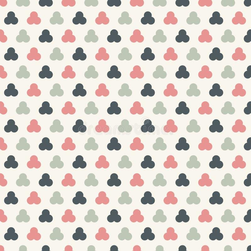 Abstrakt okrąża bezszwowego wzorów pasteli/lów koloru tło Geometryczny maswerk ilustracji