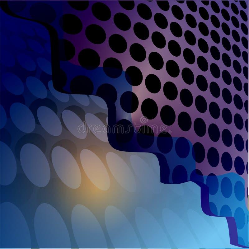 abstrakt okrąża ilustracyjne fala zdjęcia stock