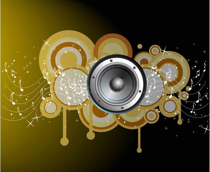 abstrakt okrąża muzyczne notatki royalty ilustracja