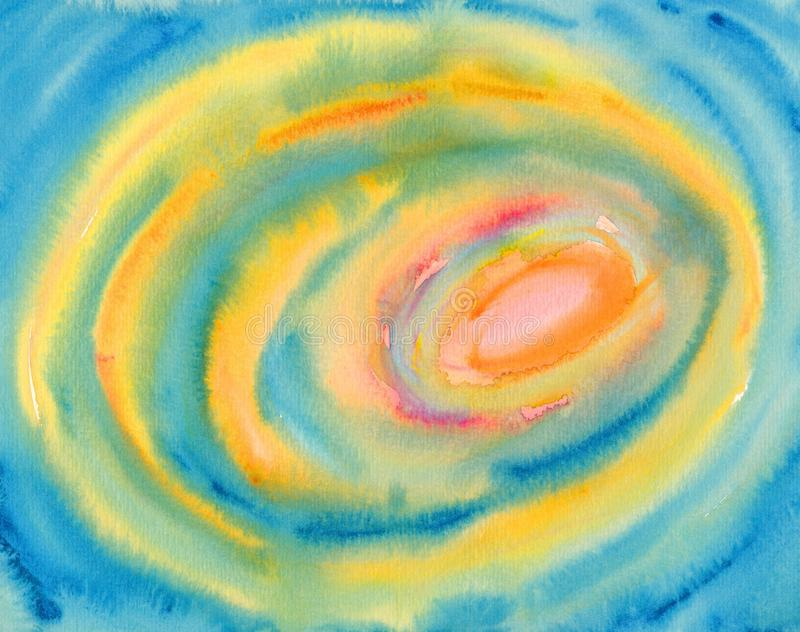 abstrakt okrąża obraz akwarelę ilustracja wektor