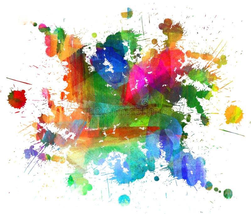 Abstrakt olje- målning vektor illustrationer