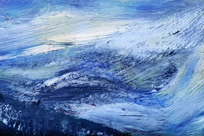 Abstrakt olje- målning arkivbild