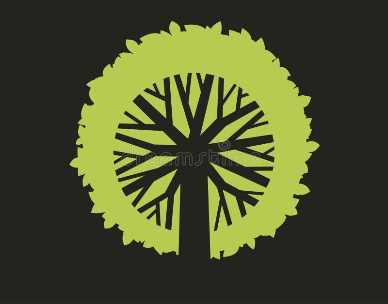 abstrakt opuszczać drzewa royalty ilustracja