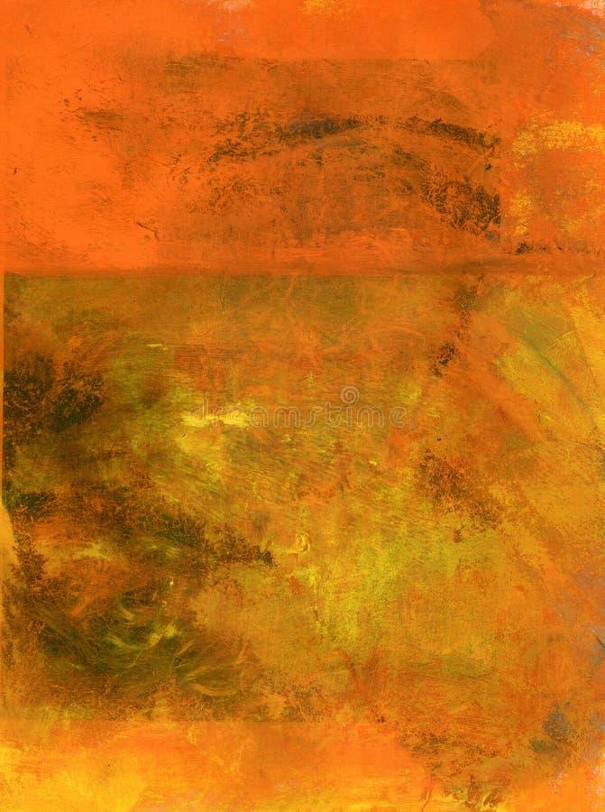 abstrakt orange royaltyfri illustrationer