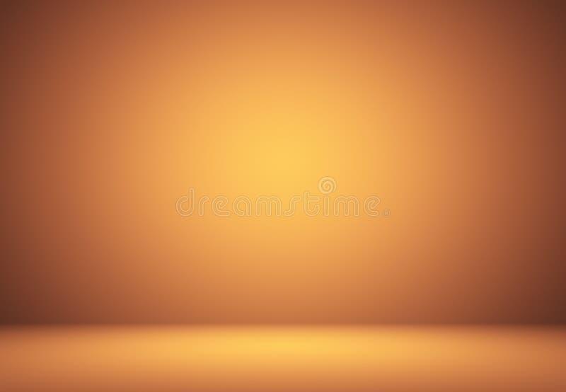 Abstrakt orange bakgrundsorienteringsdesign, studio, rum, rengöringsduktempla vektor illustrationer