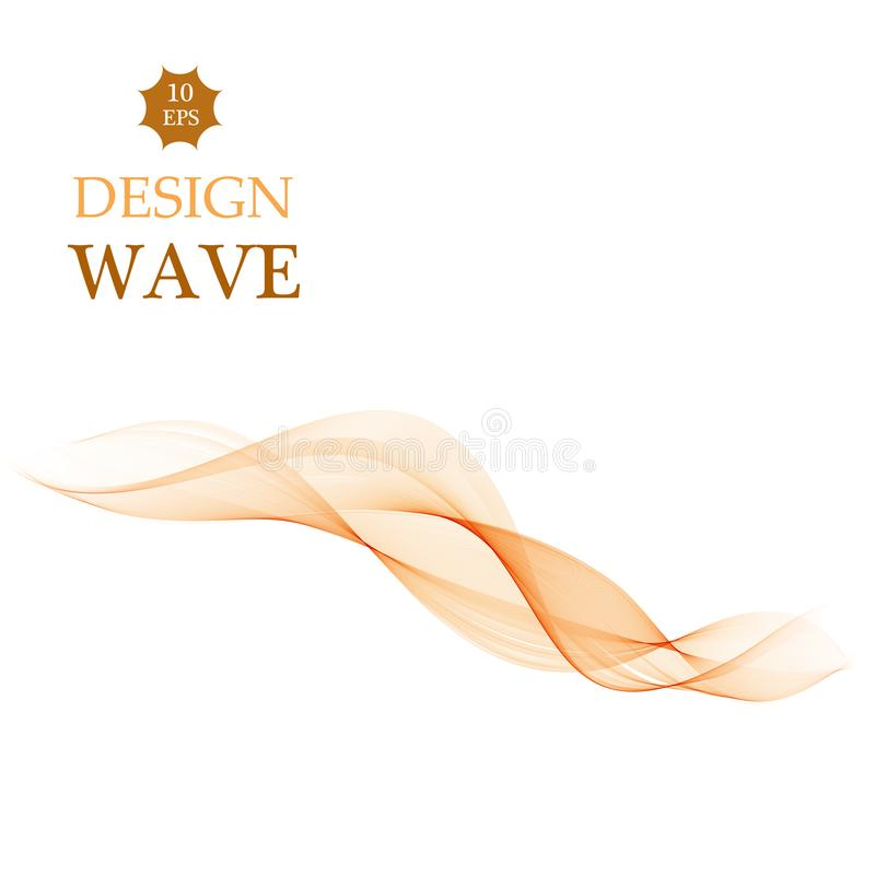 Abstrakt orange beståndsdel för färgvågdesign Vektor för slät färg för abstrakt begrepp krabb vektor illustrationer