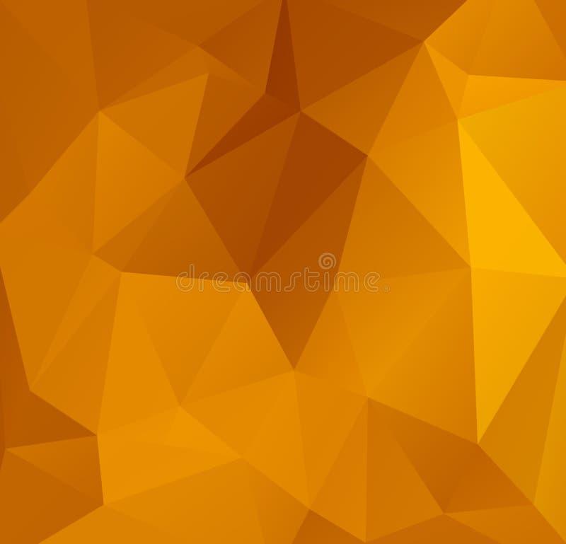 Abstrakt orange Polygonal mosaisk bakgrund, idérika designmallar Abstrakt mörker - orange polygonal modell, som består av t royaltyfri illustrationer