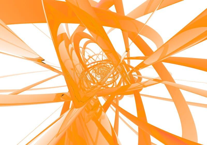 abstrakt orange trådar stock illustrationer