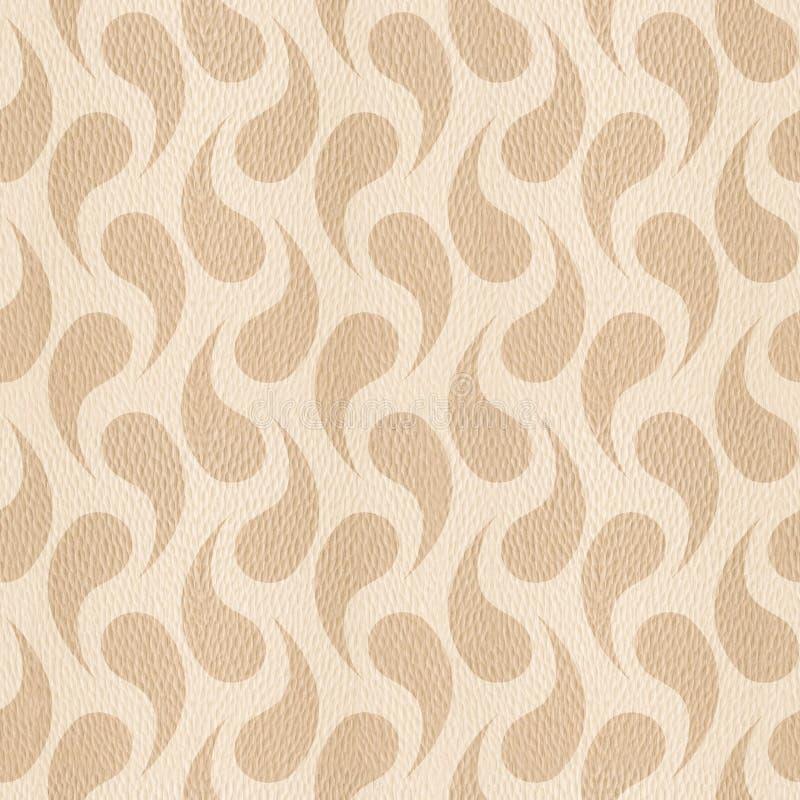 Abstrakt organisk textur - sömlös bakgrund - trä för vit ek stock illustrationer