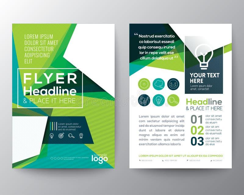 Abstrakt orientering för design för reklamblad för broschyr för triangelformaffisch stock illustrationer