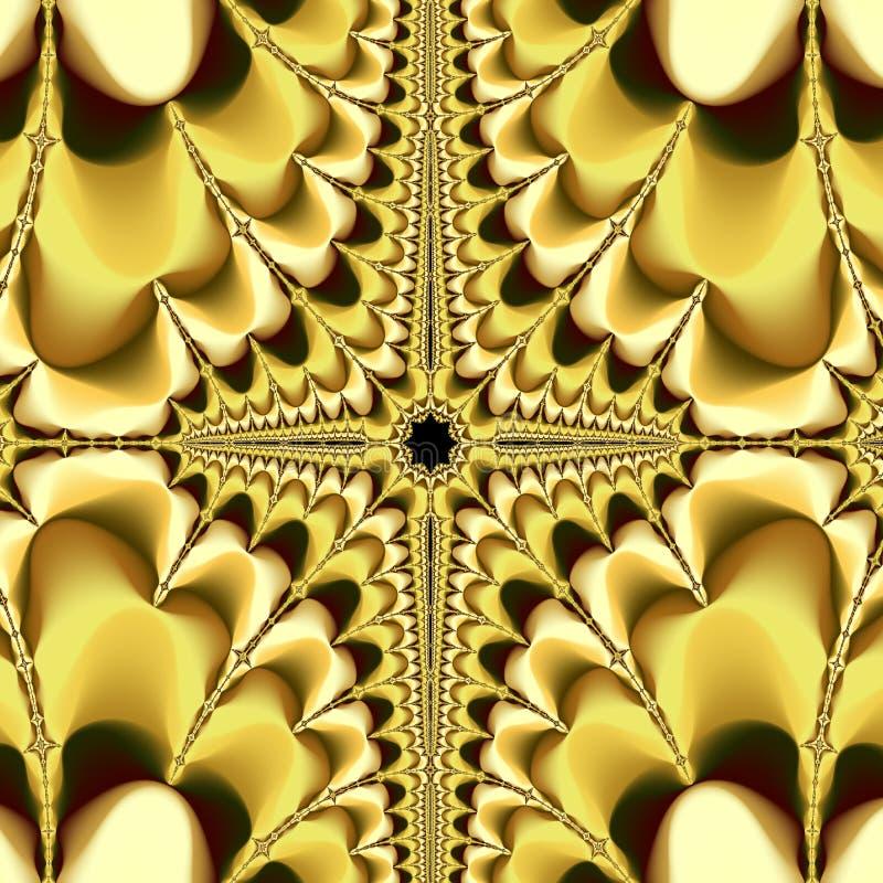 Abstrakt overklig bakgrund/guld- fractal fotografering för bildbyråer
