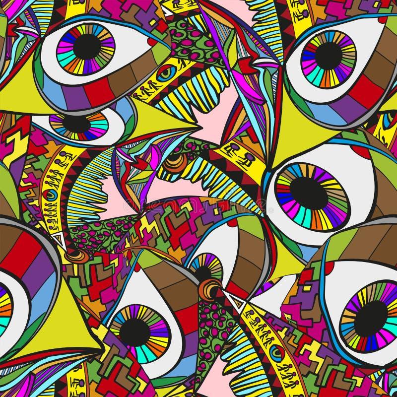 Abstrakt overklig vektorbakgrund Galen ljus bakgrund royaltyfri illustrationer