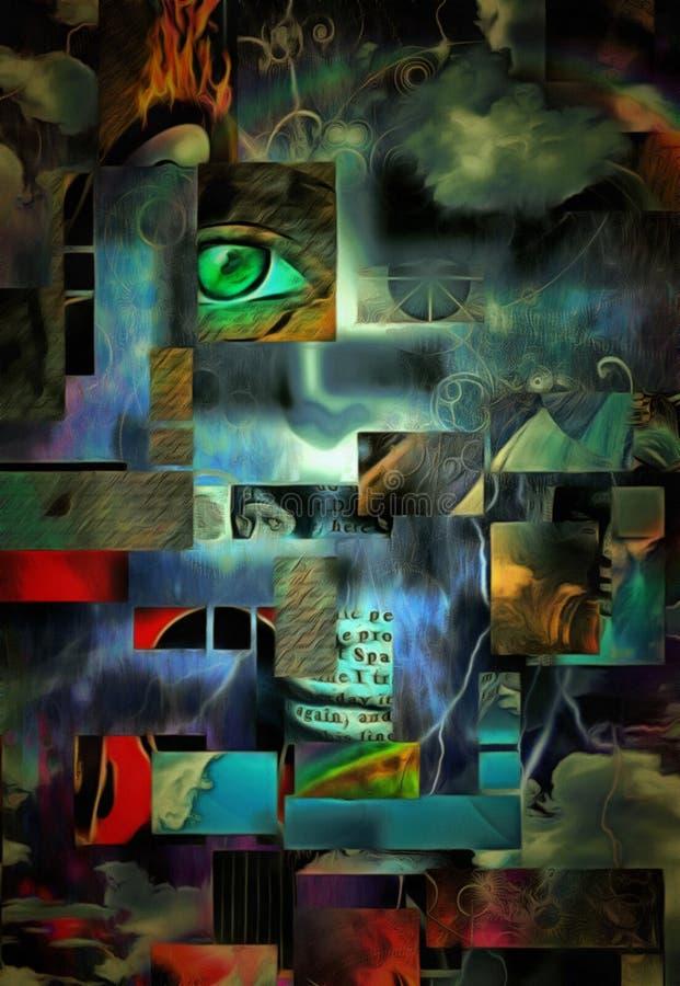 abstrakt overkligt stock illustrationer