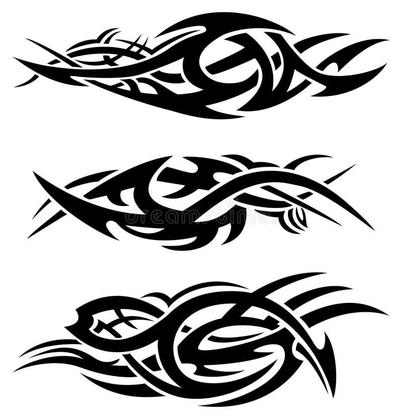 abstrakt płonie plemiennego royalty ilustracja